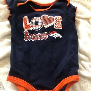Baby girl Broncos Onesie